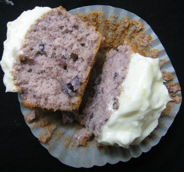Ube Cupcakes and Macapuno Coconut Frosting