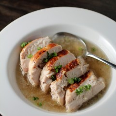 Chicken Binakol: Sous-vide Chicken Breast Stewed in Coconut Water, Lemongrass, and Ginger
