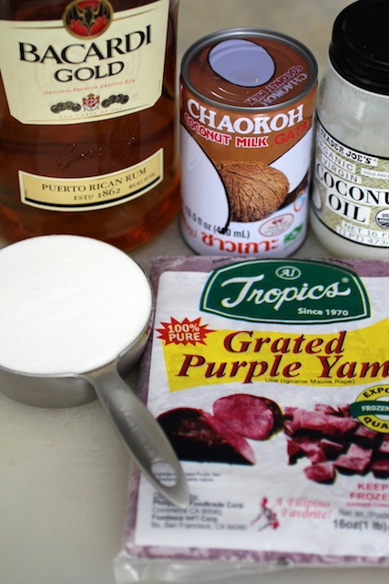 Ube Jam Ingredients