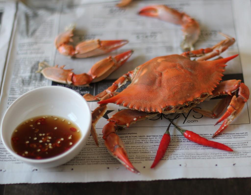 Beer-Steamed Blue Crabs