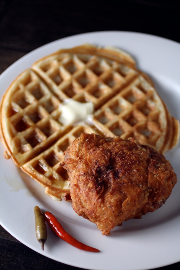 Filipino Fried Chicken and Waffles