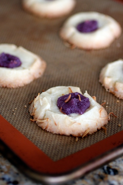 Coconut and Ube Cookies
