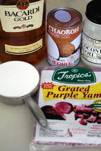 Ube Jam Ingredients