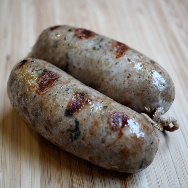 Filipino Longganisa Sausage with Ramps